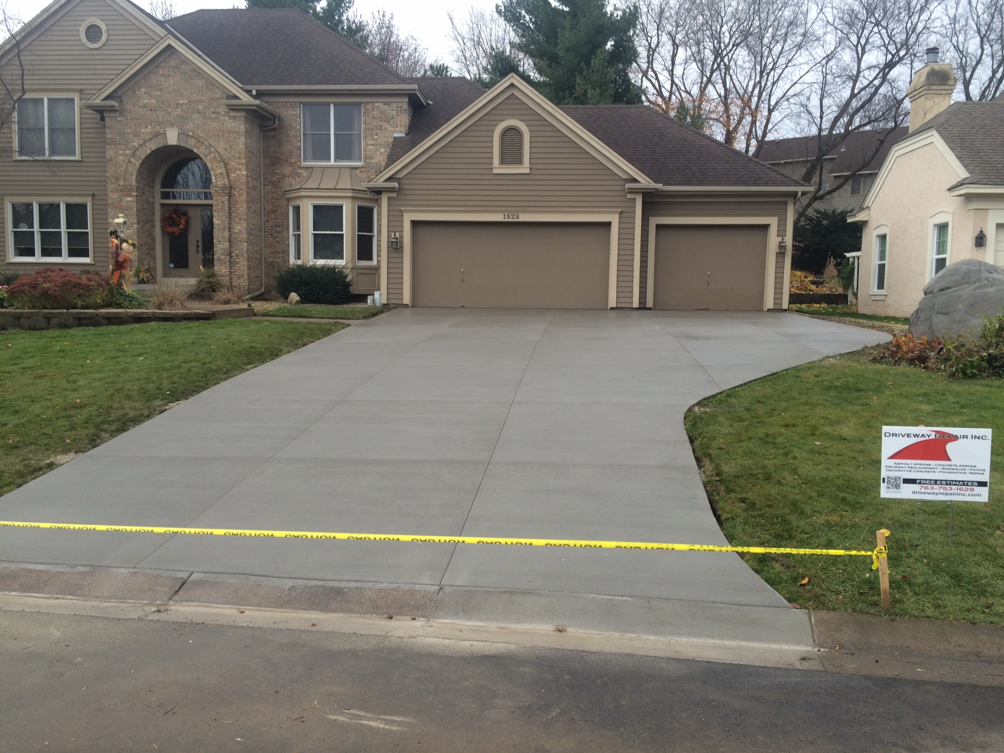 can i patch an asphalt driveway with concrete