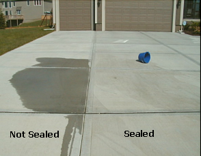 before and after sealed driveway